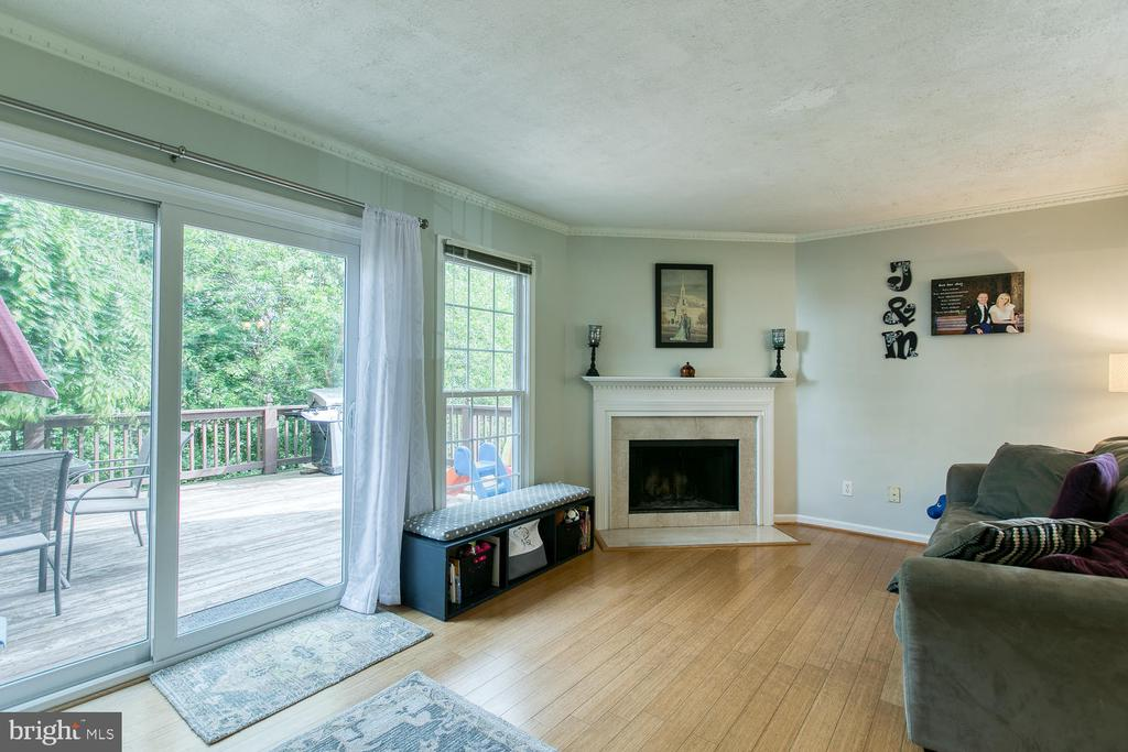 Family room with walk out to deck - 606 FALKIRK CT, FREDERICKSBURG