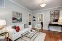 Living room has neutral paint colors - 1703 N RANDOLPH ST, ARLINGTON