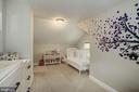 Second upper bedroom w/ carpet - 1703 N RANDOLPH ST, ARLINGTON