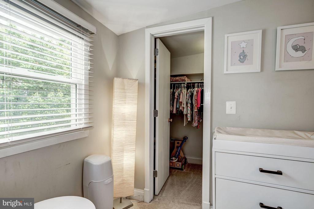 Deep closet in second upper bedroom - 1703 N RANDOLPH ST, ARLINGTON