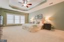 Master Bedroom  with Tray Ceiling & Fan - 41777 PURPOSE WAY, ALDIE