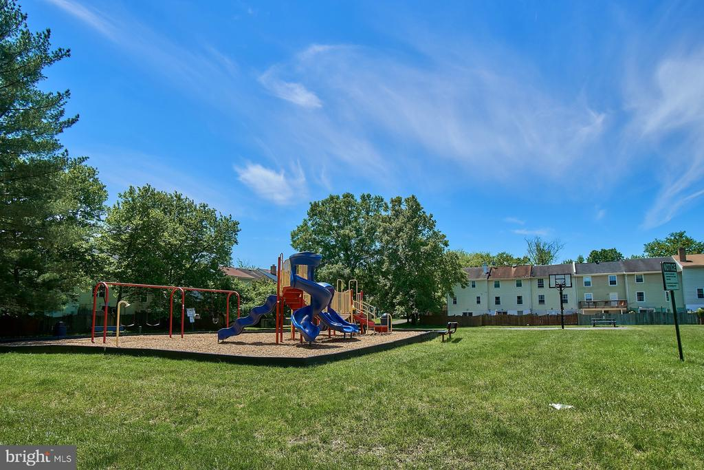 View from Deck to Neighborhood Playground - 6011 TICONDEROGA CT, BURKE