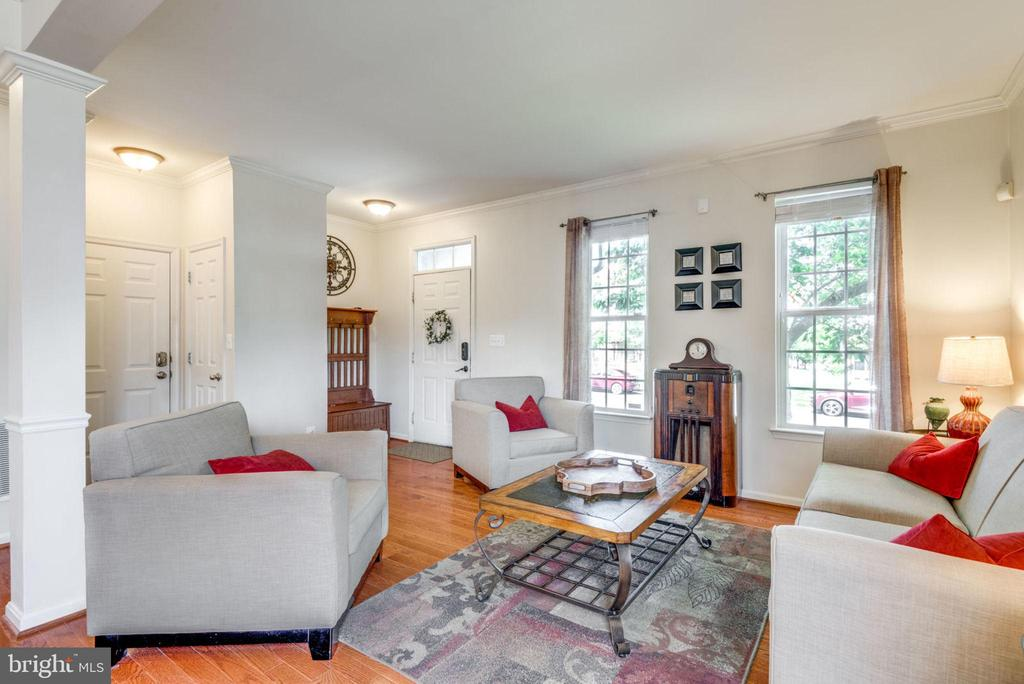 Living Room & Foyer/Entrance - 21486 PLYMOUTH PL, ASHBURN