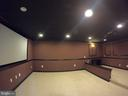 Theater Room with Projector Screen - 5322 SAMMIE KAY LN, CENTREVILLE