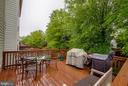 Deck off family room - 321 BARNFIELD SQ NE, LEESBURG
