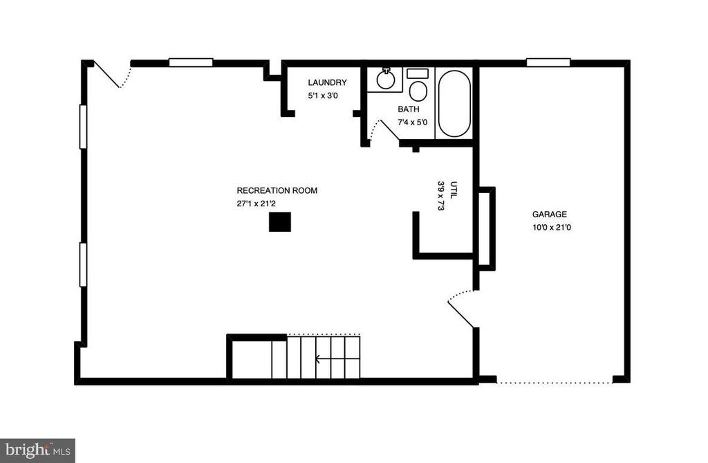 Floor Plan Basement - 3119 LAKE AVE, CHEVERLY