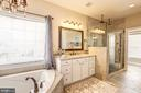 Remodeled master bathroom - 16800 ANCHOR BEND CIR, WOODBRIDGE
