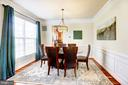 Dining room leads into kitchen - 16800 ANCHOR BEND CIR, WOODBRIDGE