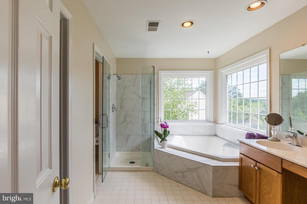 Completely updated master bath with separate WC - 18 WESTHAMPTON CT, STAFFORD