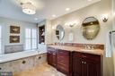 Completely renovated master bathroom - 738 FORD'S LANDING WAY, ALEXANDRIA