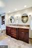 Double vanity  with premium granite countertop - 738 FORD'S LANDING WAY, ALEXANDRIA