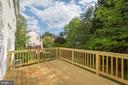 Deck Overlooks Large Backyard and Trees - 18 WESTHAMPTON CT, STAFFORD