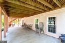 Brick Patio Under Deck - 7900 GREENEBROOK CT, FAIRFAX STATION