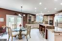 Breakfast Nook and access to Deck - 7900 GREENEBROOK CT, FAIRFAX STATION