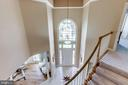 Immaculate Foyer - View From Upstairs - 7900 GREENEBROOK CT, FAIRFAX STATION