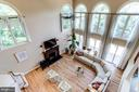View of Great Room from Upstairs - 7900 GREENEBROOK CT, FAIRFAX STATION