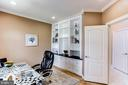 Study with Built In Bookcases - 7900 GREENEBROOK CT, FAIRFAX STATION