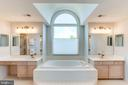 Master Bath with Double Vanity and Step-up Tub - 7900 GREENEBROOK CT, FAIRFAX STATION