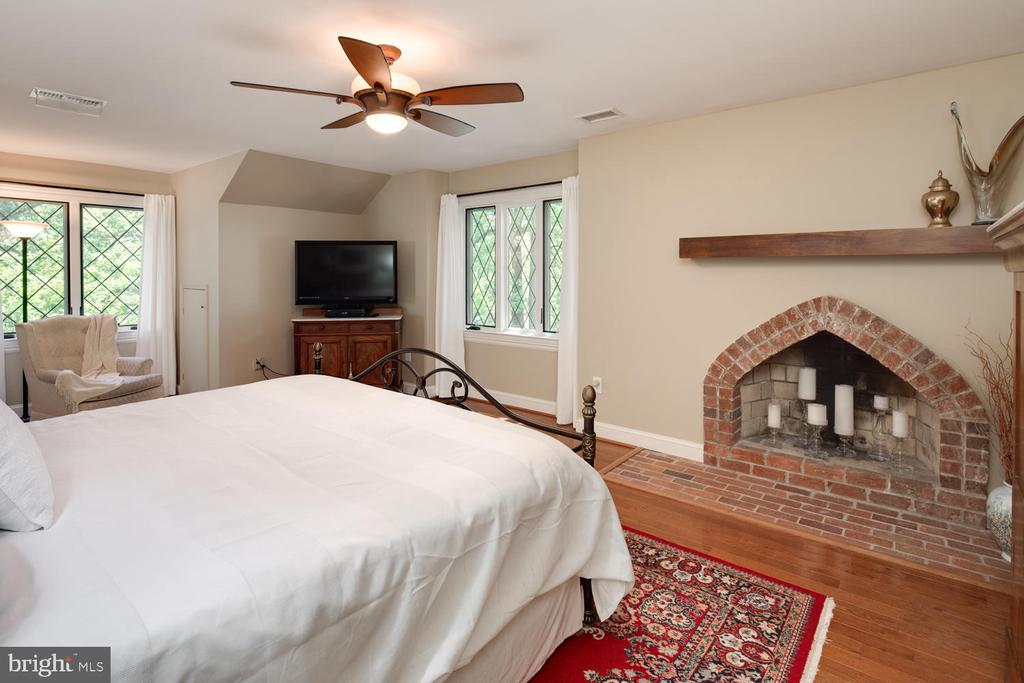 Owner's suite with a third wood-burning fireplace - 2821 N QUEBEC ST, ARLINGTON