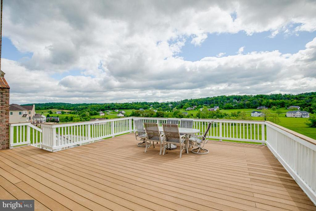 Copious entertaining space on this bi-level deck - 15052 BANKFIELD DR, WATERFORD
