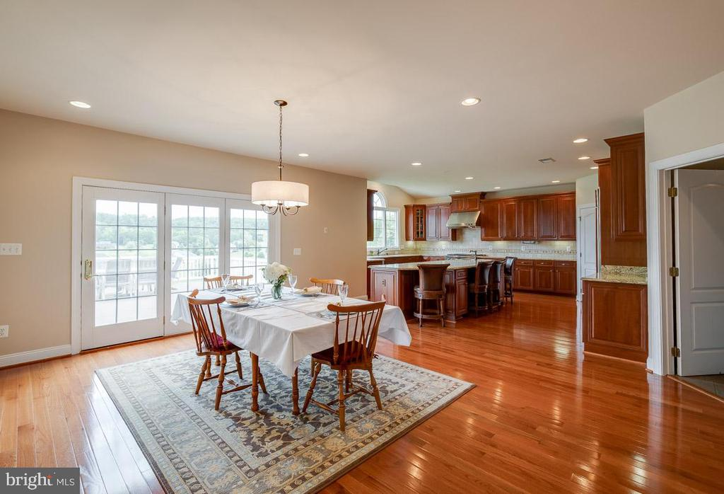 Entering the Kitchen with updated lighting - 15052 BANKFIELD DR, WATERFORD