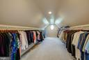 Master closet with bountiful space for two - 15052 BANKFIELD DR, WATERFORD