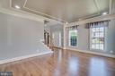 Lots of light in living room - 18460 KERILL RD, TRIANGLE