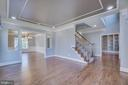 Formal living room with refinished hardwood - 18460 KERILL RD, TRIANGLE