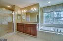 Elegant master bath - 18460 KERILL RD, TRIANGLE