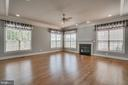 1st flloor family room with fireplace - 18460 KERILL RD, TRIANGLE