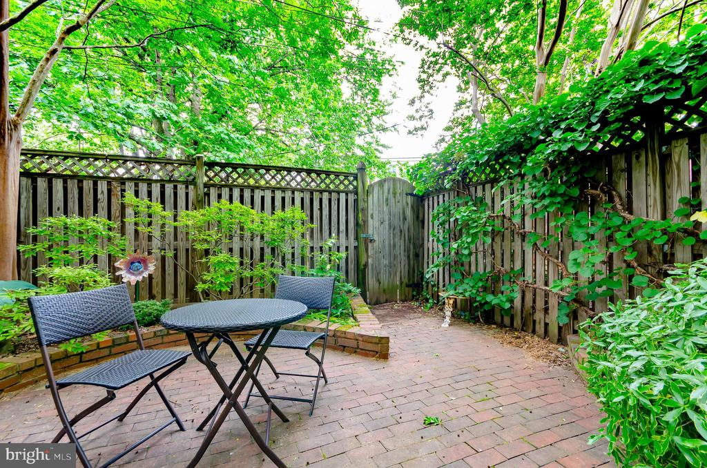 Patio area of deep yard - 708 A ST NE, WASHINGTON