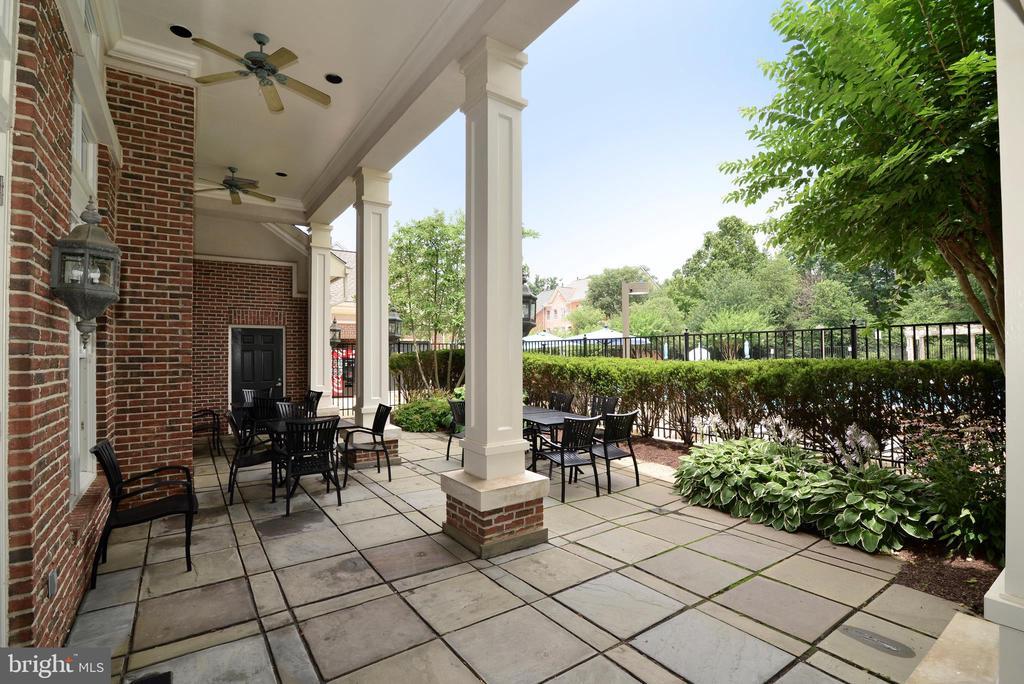 Clubhouse patio - 12144 CHANCERY STATION CIR, RESTON