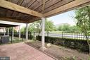 Patio with fenced-in yard - 12144 CHANCERY STATION CIR, RESTON