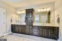 His and hers vanity with quartz tops - 41984 PADDOCK GATE PL, ASHBURN
