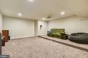 Media room~ with step platform - 41984 PADDOCK GATE PL, ASHBURN