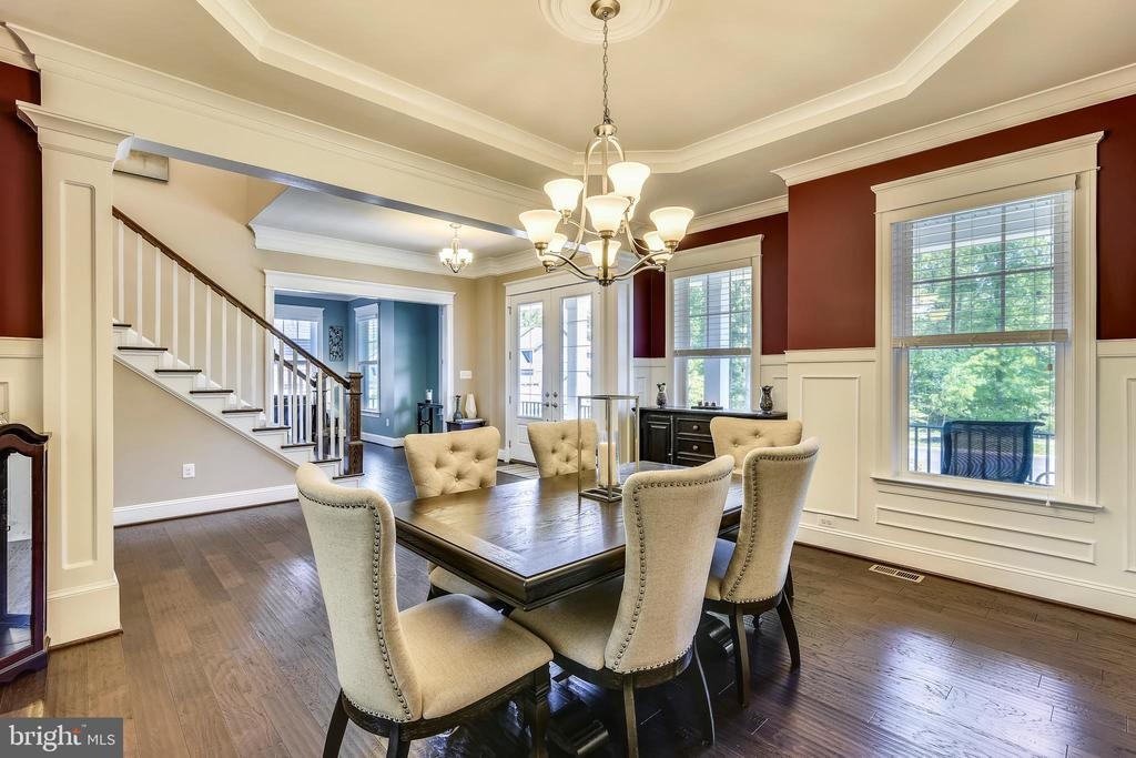 Formal dining room with tray ceiling~ - 41984 PADDOCK GATE PL, ASHBURN
