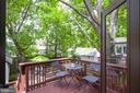 Rear deck perfect for al fresco dining - 3631 VAN NESS ST NW, WASHINGTON