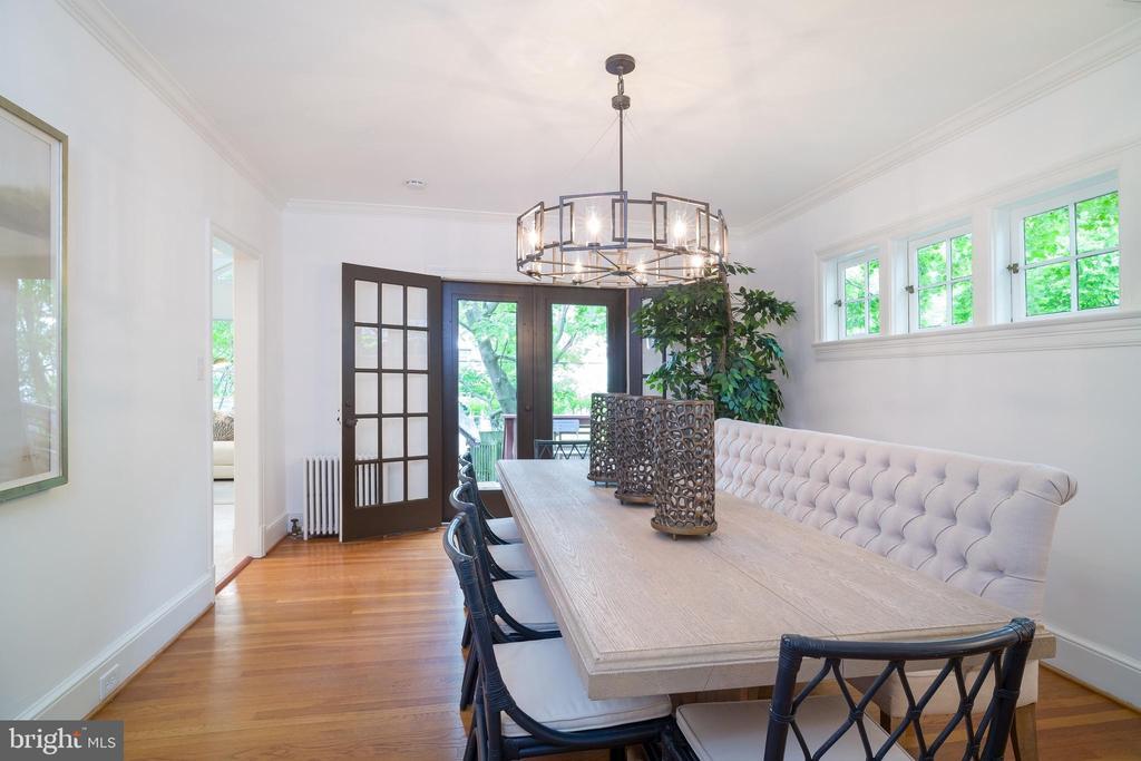 Large beautiful dining room - 3631 VAN NESS ST NW, WASHINGTON