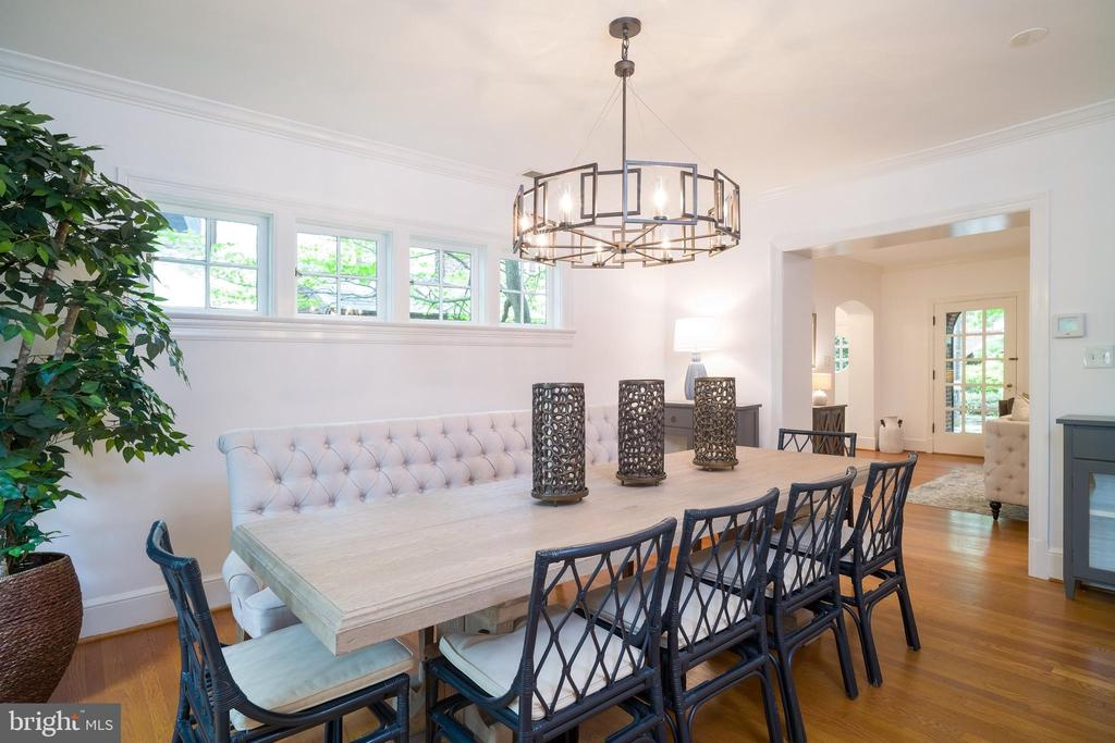 Dining room perfect for entertaining - 3631 VAN NESS ST NW, WASHINGTON