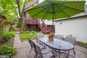 Backyard perfect for dining outside - 3631 VAN NESS ST NW, WASHINGTON