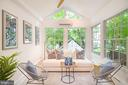 Solarium with walls of windows - 3631 VAN NESS ST NW, WASHINGTON