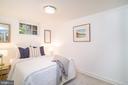 Bedroom on lower level - 3631 VAN NESS ST NW, WASHINGTON