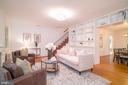 Living room looking toward dining room - 3631 VAN NESS ST NW, WASHINGTON