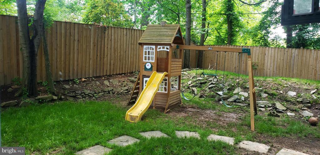 backyard - 7935 ORCHID ST NW, WASHINGTON