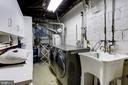 large laundry room with front loading w & d - 4700 RESERVOIR RD NW, WASHINGTON