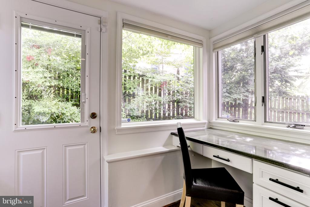 Built in desk area off kitchen w/ garden views - 4700 RESERVOIR RD NW, WASHINGTON
