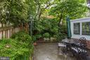 Upper patio with gorgeous landscaping - 4700 RESERVOIR RD NW, WASHINGTON