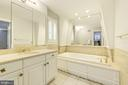 Master bath boasts luxurious soaking tub - 3856 N RIXEY ST, ARLINGTON