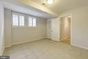 Lower level 5th bedroom with large windows~front - 3856 N RIXEY ST, ARLINGTON