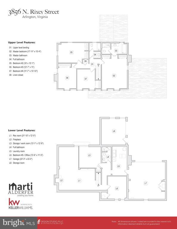 Upper & Lower level Floor plans - 3856 N RIXEY ST, ARLINGTON